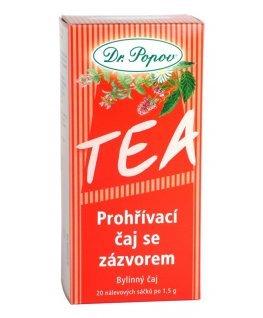 Čaj porcovaný prehrievací s zázvorom 30g