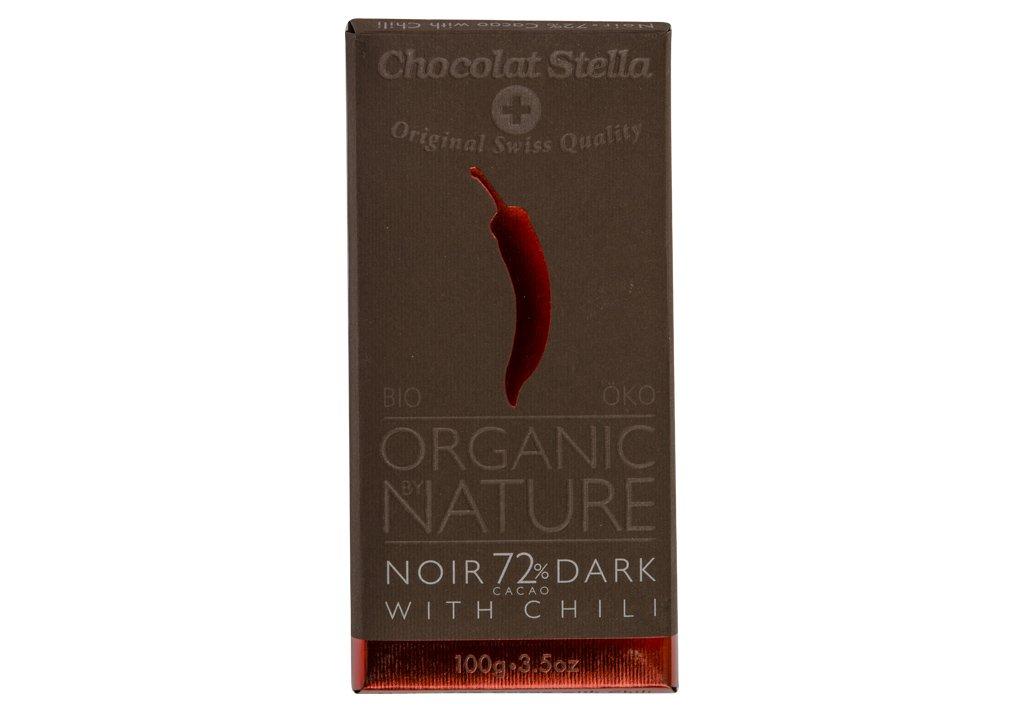 Čokoláda horká s chilli BIO 100g
