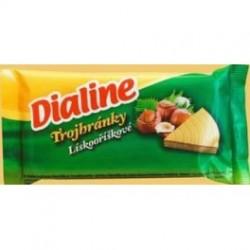 Oblátky Dialine trojhránky lieskový orech 50g