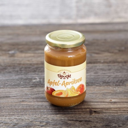 Pyré ovocné jablko marhuľa bez cukru BIO 360g