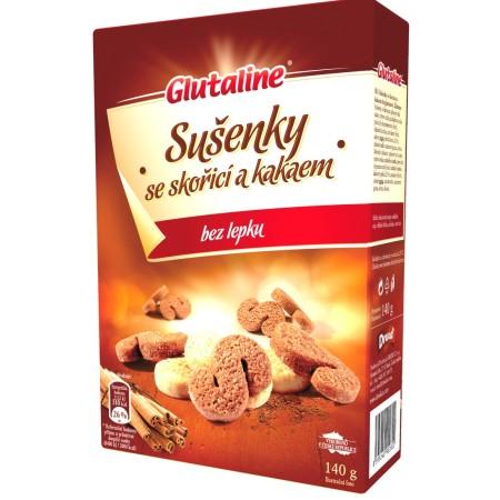 Sušienky Glutaline krabička škorica kakao bezgluténové 140g