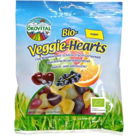 Cukríky Srdiečka ovocné bez želatíny bezgluténové BIO 100g