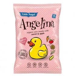 Snack kukuričný Angelina mrkva jablko BIO 30g