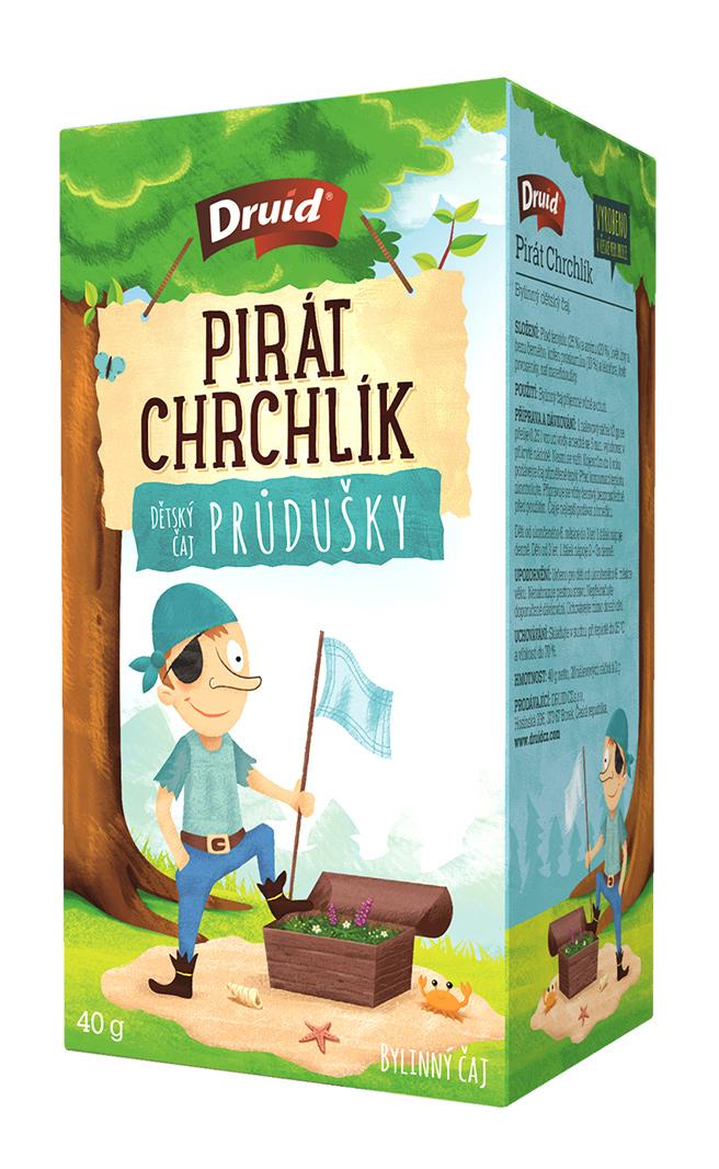 Čaj porcovaný detský Pirát Chrchlíček byliný 40g