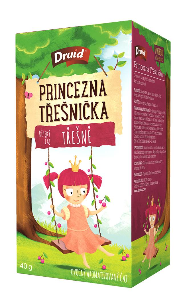 Čaj porcovaný detský Princezná Čerešnička ovocný 40g